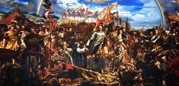 """Sobieski Sending Message of Victory to the Pope"" by Jan Matejko, 1883. This painting depicts the victory of the Catholic forces at Vienna over the Ottoman Turks on September 12, 1683. It hangs in the Sobieski Room of the Vatican Museum. Read more: http://www.ammoland.com/2014/09/fight-or-die-a-september-11th-perspective/#ixzz3D2R95ZnV  Under Creative Commons License: Attribution  Follow us: @Ammoland on Twitter 