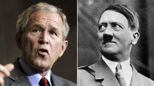 "An unidentified McKinley Middle School teacher sent students home with an assignment instructing them to compare and contrast Bush and Hitler as part of a unit on ""War and Peace,"" according to a statement by district officials. (AP)"