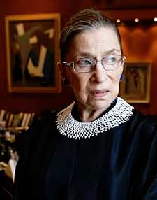 Justice Ruth Bader Ginsburg: This fall, she begins her 22nd year on the high court, and she turns 82 in March.