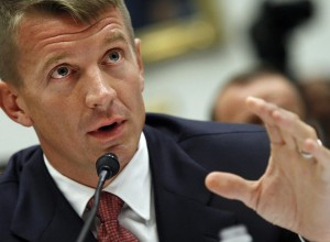 Erik Prince testifies in 2007 before the House Committee on Oversight and Government Reform about the controversial company he founded, Blackwater, Inc. (Photo by Linda Davidson/ The Washington Post)