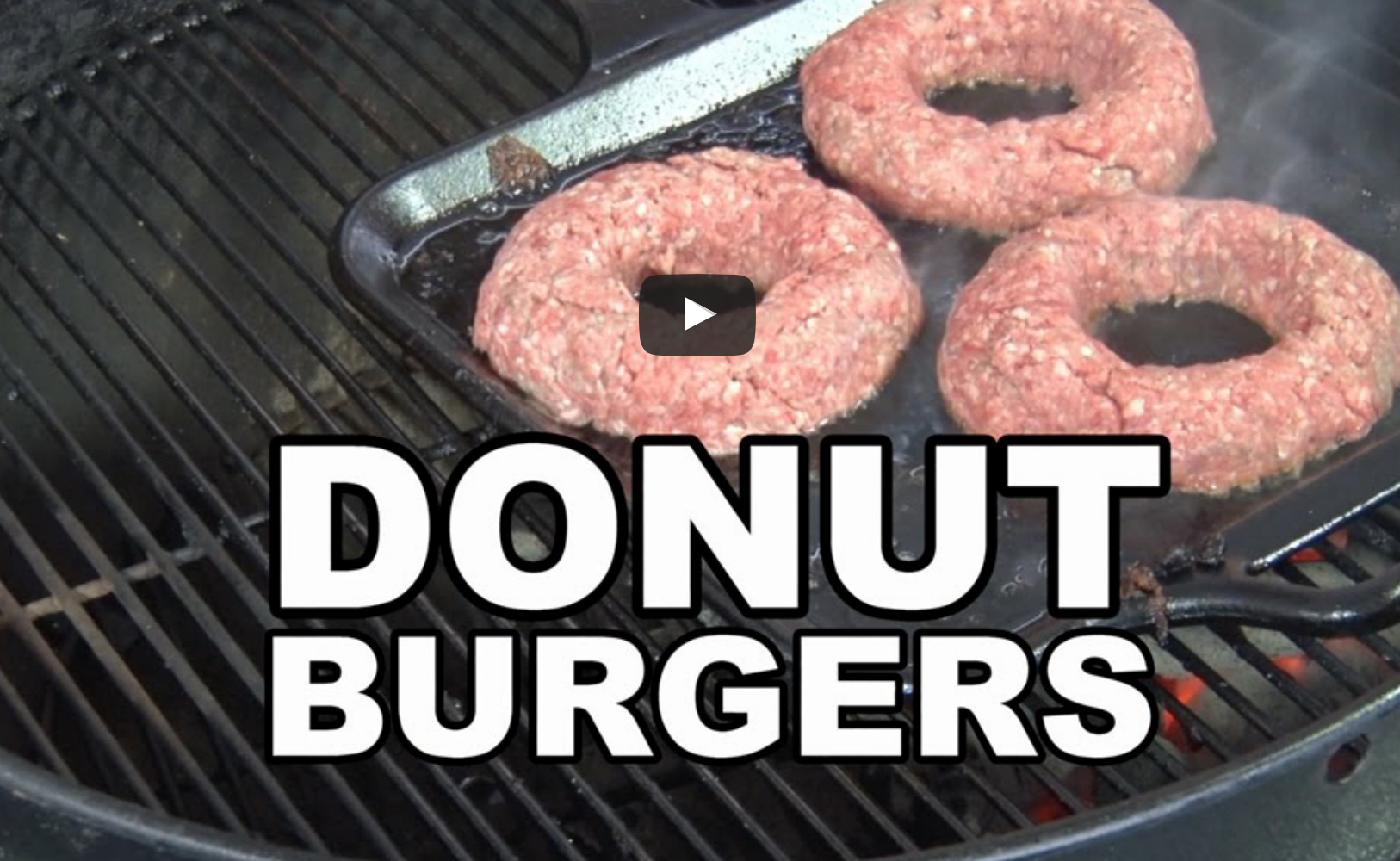 [DELICIOUS VIDEO] Stuffed Donut Burgers On The BBQ PIT!