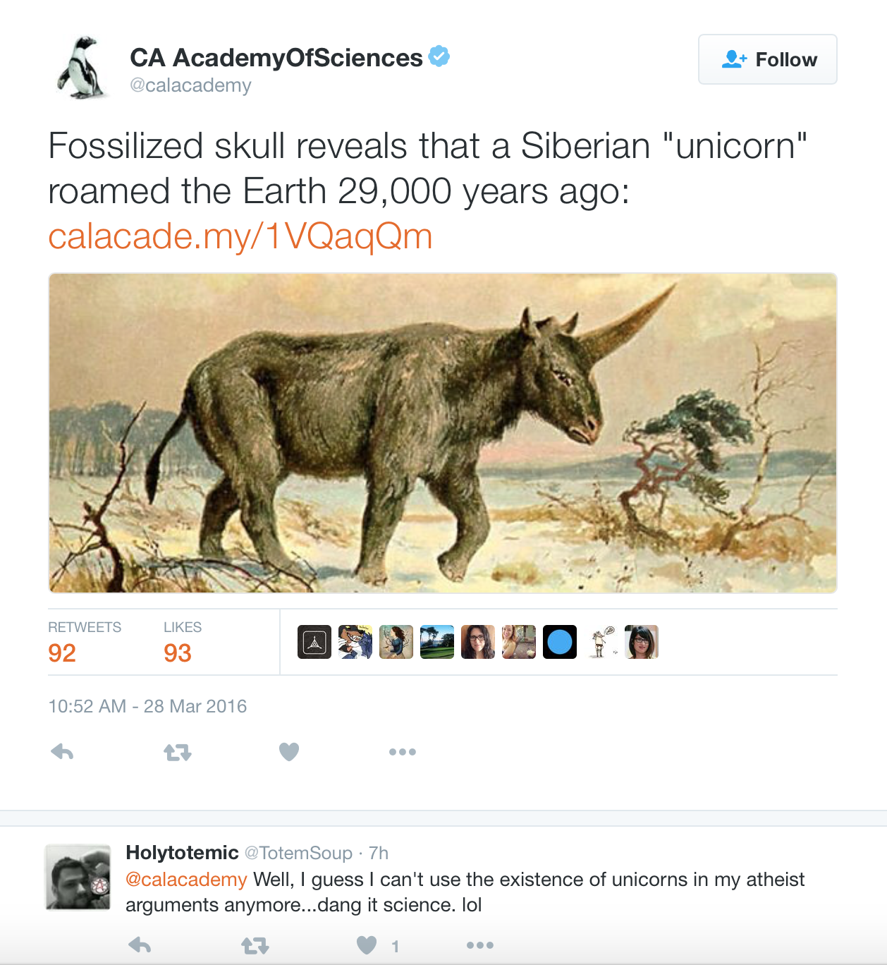 Scientific Revelation Fossil Confirms Unicorns Were Real