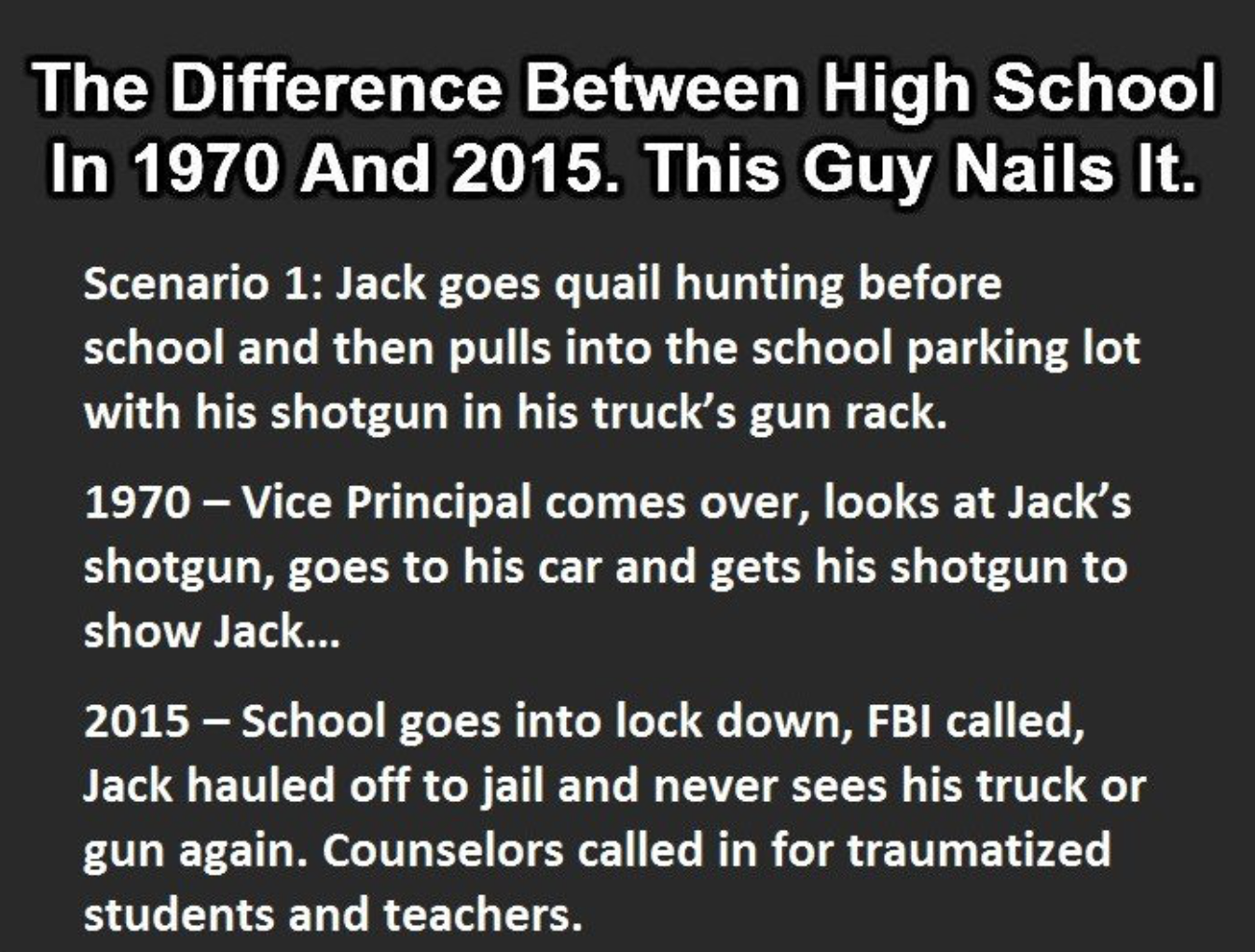 High School In 1970 Vs 2015. This Is So Accurate It Hurts.