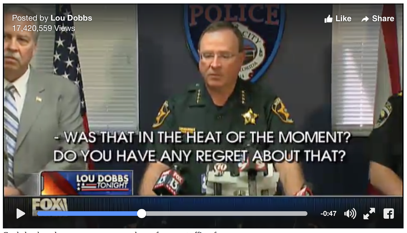 [MUST WATCH] Sheriff's Response Blows Away Politically Correct Reporter's Anti Gun Attitude