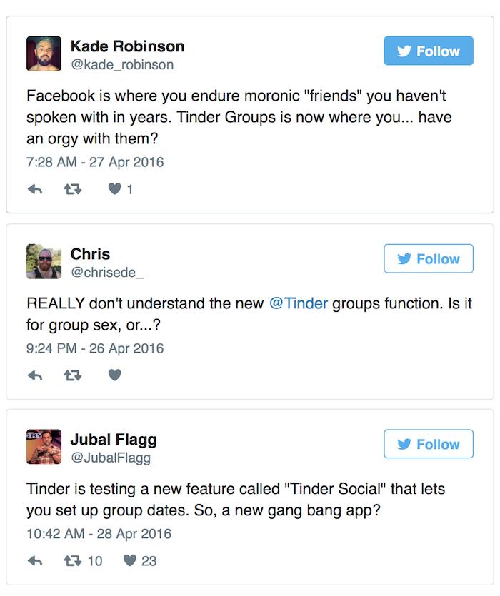 Social Media Blows Up Over Tinder, Group Sex App