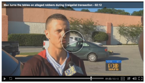 [VIDEO] Craigslist Robbers Get The Surprise Of Their Lives When They Try To Ripoff This Guy