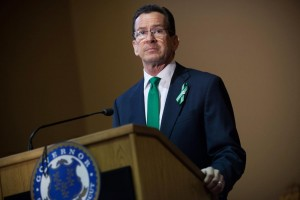HARTFORD, CT - APRIL 4:  Connecticut Gov. Dannel Malloy speaks during the gun control law signing event at the Connecticut Capitol pril 4, 2013 in Hartford, Connecticut, After more than 13 hours of debate, the Connecticut General Assembly approved the gun-control bill early April 4, that proponents see as the toughest-in-the-nation response to the Demember 14, 2012 Newtown school shootings. (Photo by Christopher Capozziello/Getty Images)