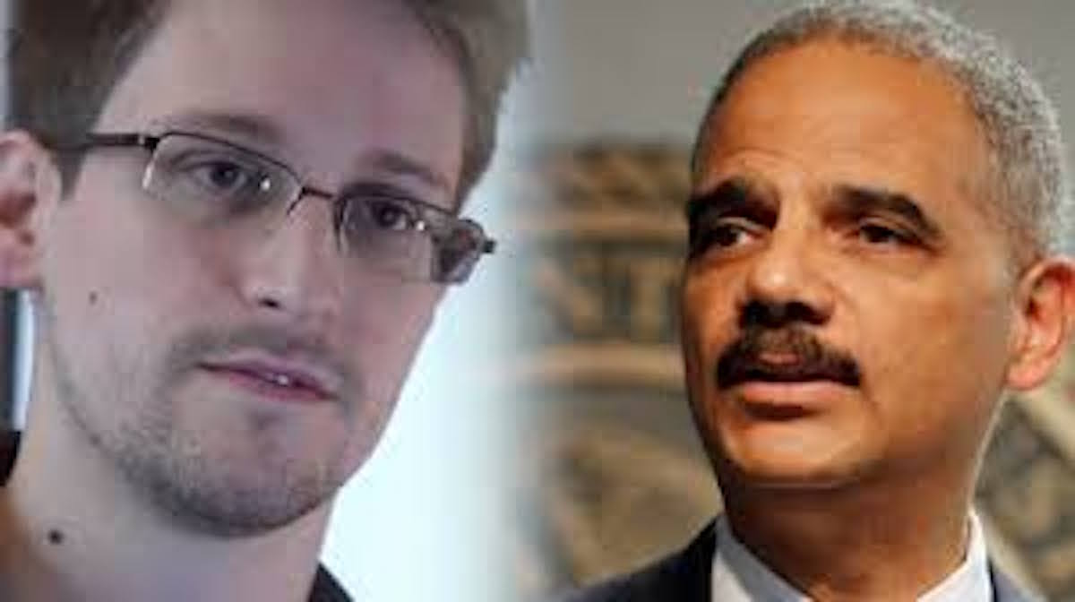 [VIDEO] HUH? Eric Holder Sends Message Of Support To Snowden!