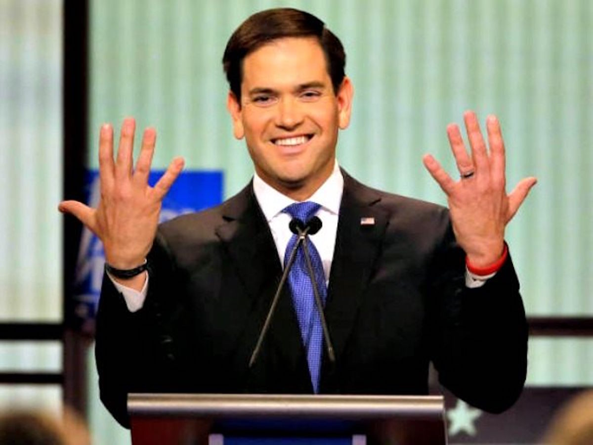 [WATCH] Little Marco Is Trying To Weasel His Way Back Into The Donald's Good Graces... By Apologizing!