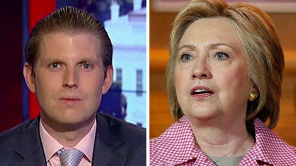 Donald Trump's Son Has a New Two-Word Nickname for Hillary Clinton - You're Going to Love It