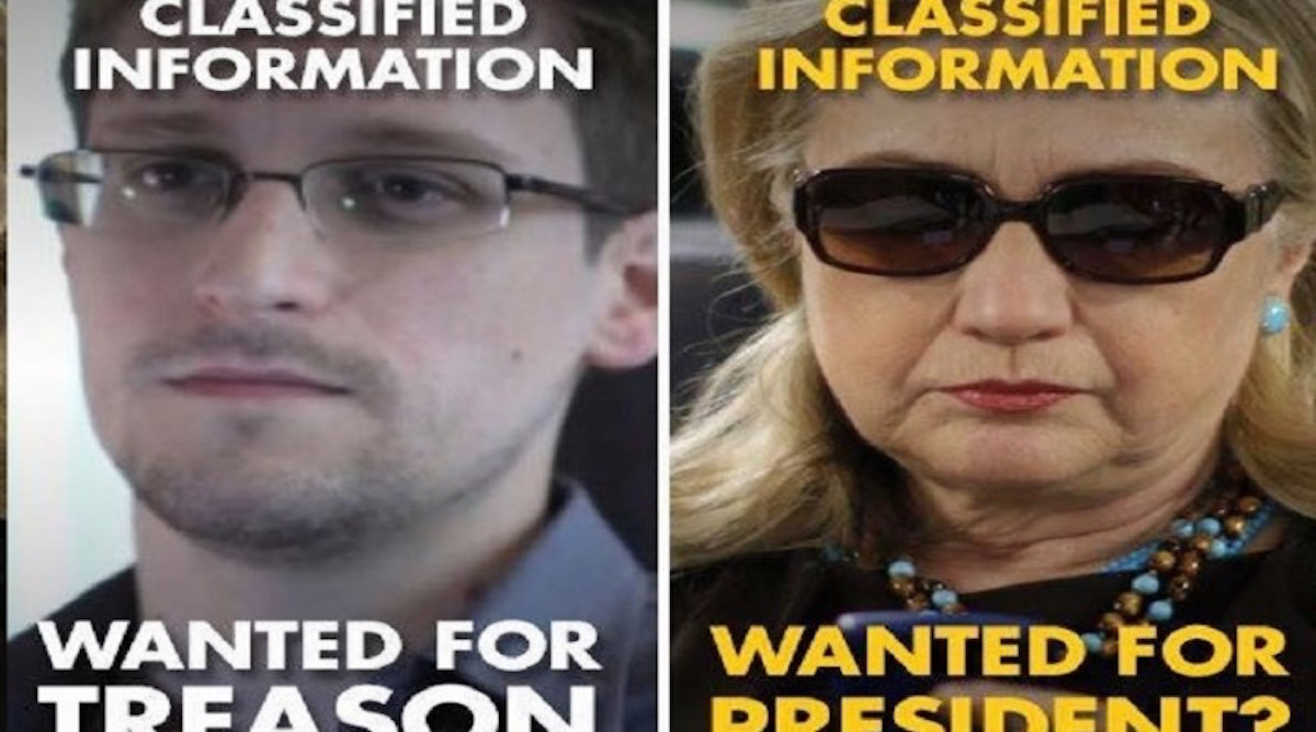 Clinton And Snowden: Double Standard?