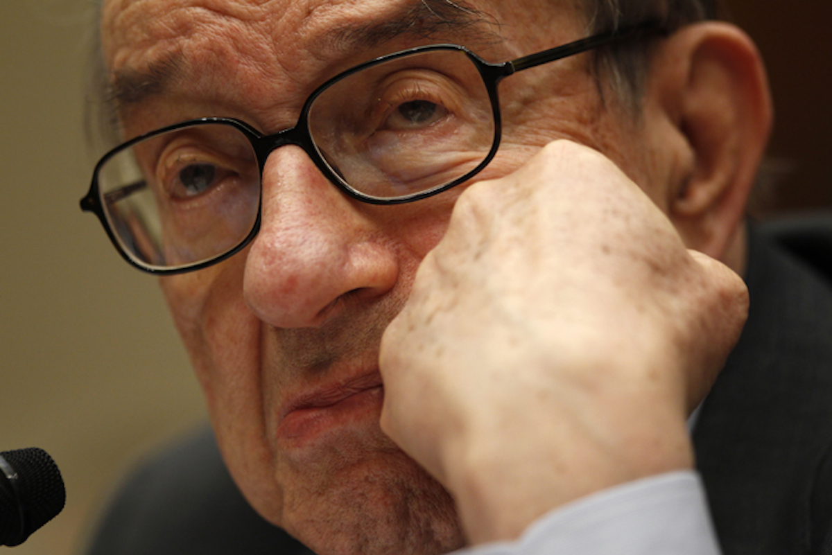 """[WATCH] Alan Greenspan Says We're """"Headed For Martial Law"""""""