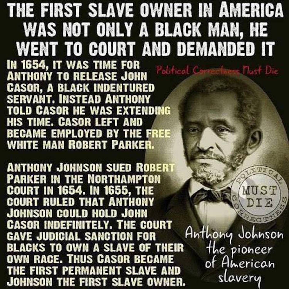 LIBERAL HEADS WOULD EXPLODE If They Knew This About The First American Slave Owner!