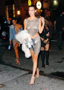 Bella Hadid and The Weeknd arrive at Up&Down to celebrate her 20th birthday in New York City