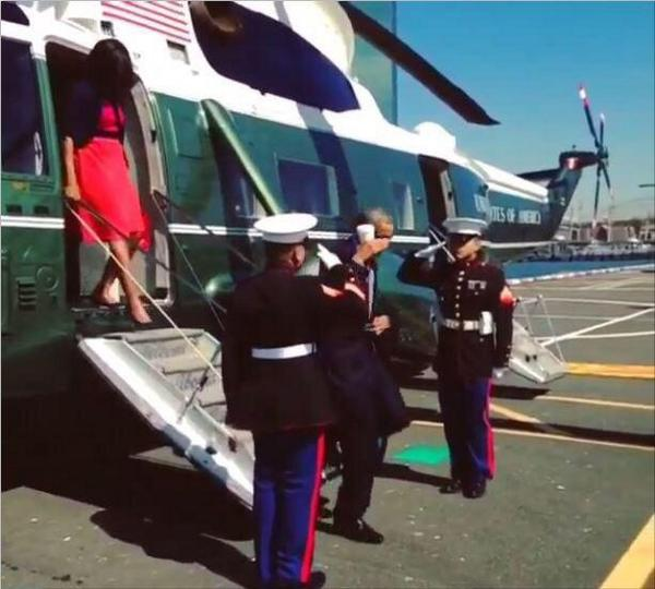 18 Disgusted Twitter Responses to Obama's 'Latte Salute' of Marine