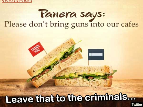 Panera Bread Asks Law-Abiding Citizens to Leave Guns at Home