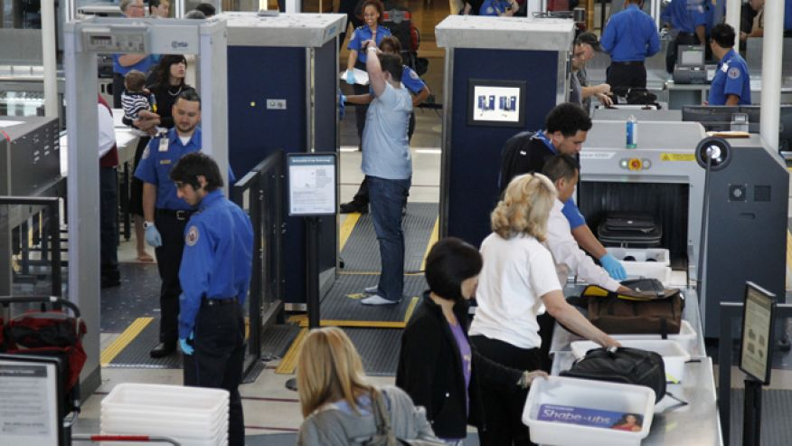 This May 2, 2011 photo shows a TSA security checkpoint at Los Angeles International Airport, in Los Angeles CA. (Reuters)