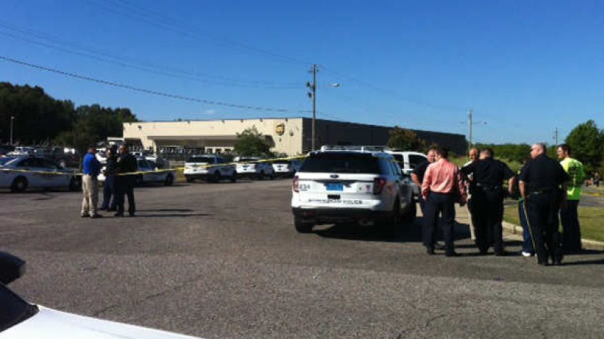 SEPT. 23: A large police presence was seen outside a UPS facility near Birmingham after reports of a shooting. (MyFoxAl.com)