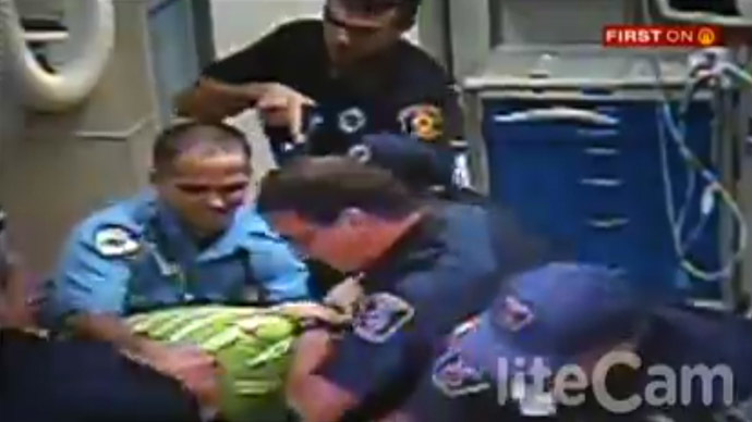 [VIDEO] Pittsburgh cops sued for Tasering man grieving over step-son's body