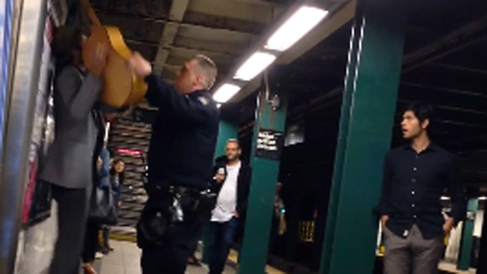 [VIDEO] NYPD Assaults Busker, Then Arrests Him For Doing Nothing Illegal