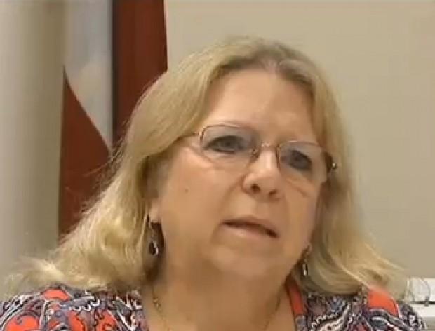 Douglas County Board of Elections Supervisor Laurie Fulton. (Image via WAGA-TV)