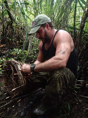 Former Marine Joe Teti, shown in Sri Lanka filming an episode of the Discovery Channel's popular 'Dual Survival' show, has been stripped of his membership in the Special Forces Association. (Discovery Channel)