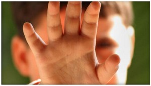 childs hand