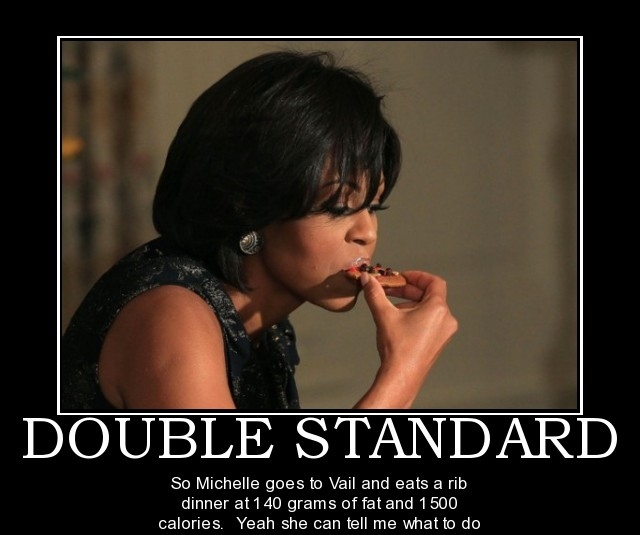 double-standard-michelle-obama-political-poster-1298339863