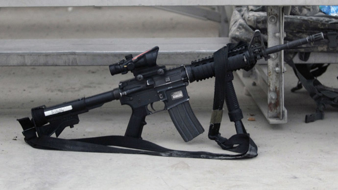 AR-15 rifle. (Reuters/Bruno Domingos)