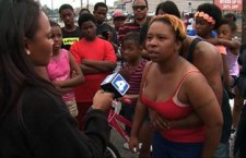 **Embargo: St. Louis, MO** The mother of 18-year-old Michael Brown, Lesley McSpadden, passionately speaks to a reporter for CNN affiliate KMOV following the shooting death of her son by Ferguson, Missouri police Saturday, August 9, 2014.