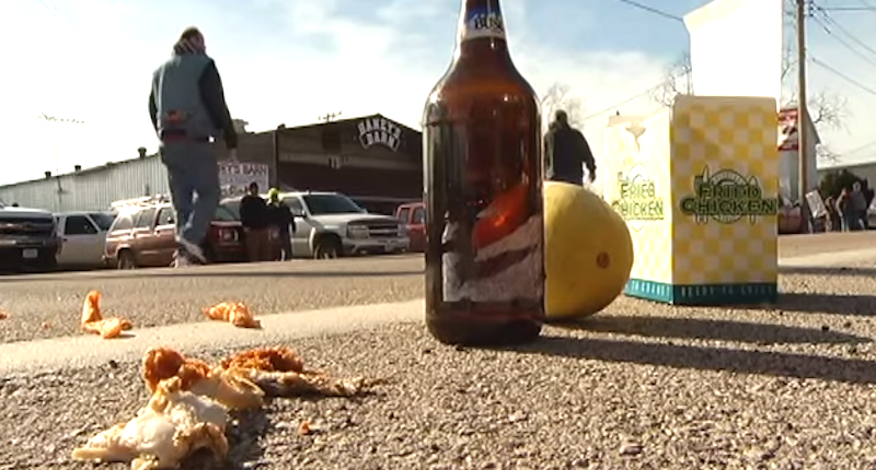 This will not help! Rosebud, MO, residents taunt protesters with slurs, fried chicken, melon
