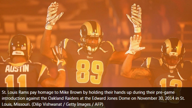 #Ferguson Cops Demand Rams Players Be Punished For Supporting Riots