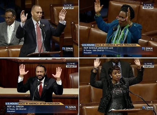 """Scumbag Democrats perpetuate Michael Brown """"hands up"""" lie on the House floor"""
