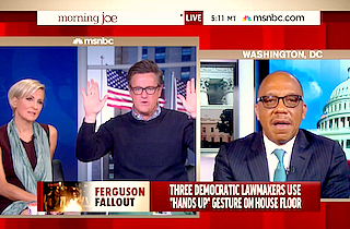 [WATCH] MSNBCs Joe Scarborough RIPS #Ferguson Supporters for 'Hands Up' Gesture: 'You Know It's a Lie!'