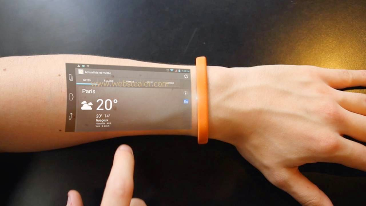 [VIDEO] THIS BRACELET TURNS SKIN INTO A TOUCHSCREEN DISPLAY…