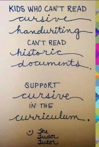 AMERICAN EDUCATION ALERT: The Handwriting Is NOT On The Wall