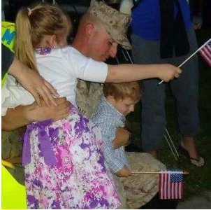 Staff Sgt. David Wyatt, with his children, from Facebook