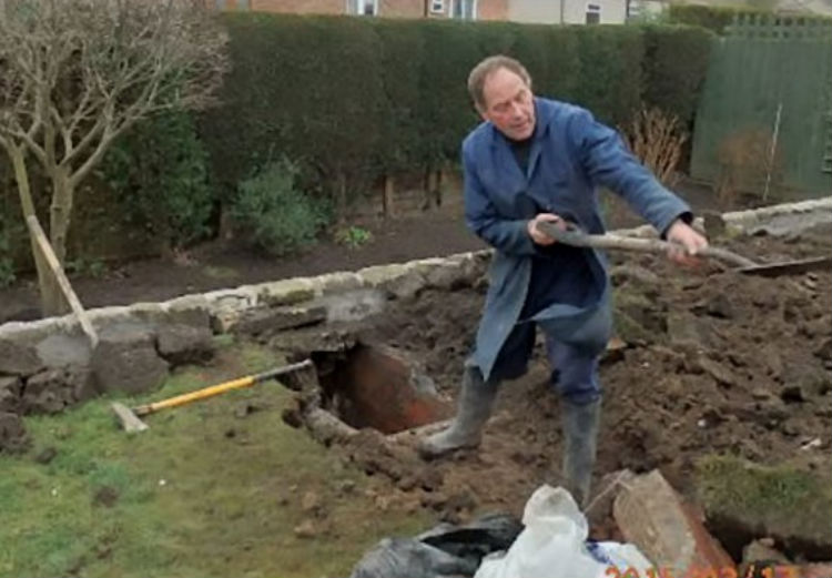 Angry Gardener Digs Up Lawn In A Frustrated Rage And Discovers Something Mind-Blowing