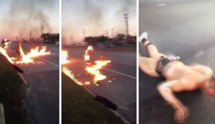 VIDEO: White Men Doused With Gas And Set On Fire By Blacks!