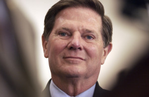 """UNITED STATES - MAY 04: Tom Delay during the House Republican's """"High-Tech"""" working group rolls out the agenda for the 109th Congress. (Photo By Douglas Graham/Roll Call/Getty Images)"""