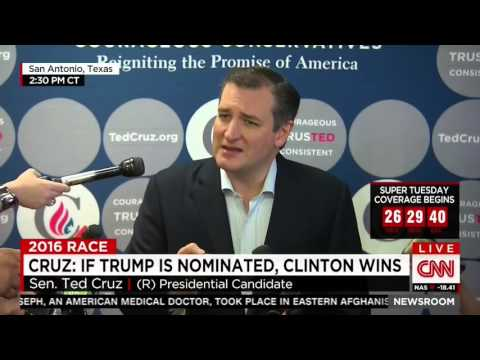 [VIDEO] Ted Cruz Super Tuesday Surprise Bombshell