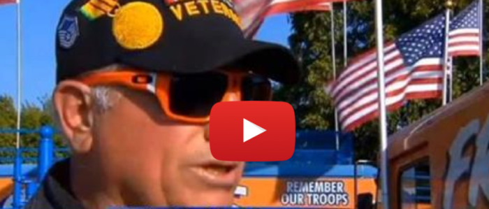 [WATCH] Veteran Told To Remove American Flag Because It's 'Un-American' So He Does THIS Instead
