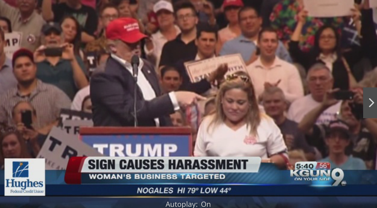 Latina Woman's Business Is Threatened Because Trump Thanked Her For Her Support