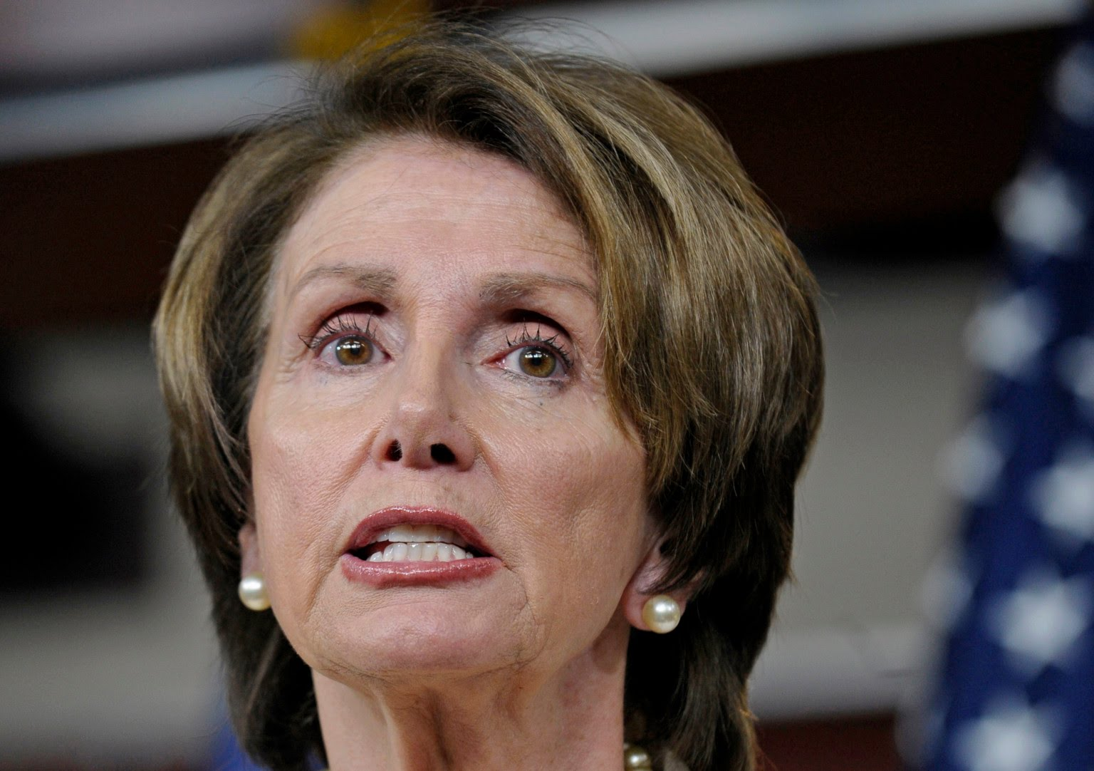 On His Way Out, Trump Just Made Pelosi' False Teeth Pop Out!