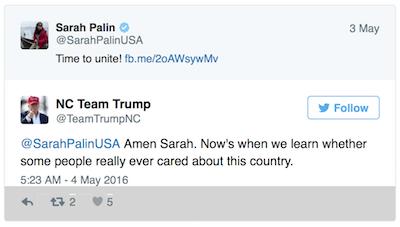 "Sarah Palin: ""Divided We Fall,"" Calls For Unity Get Social Media Explosion"