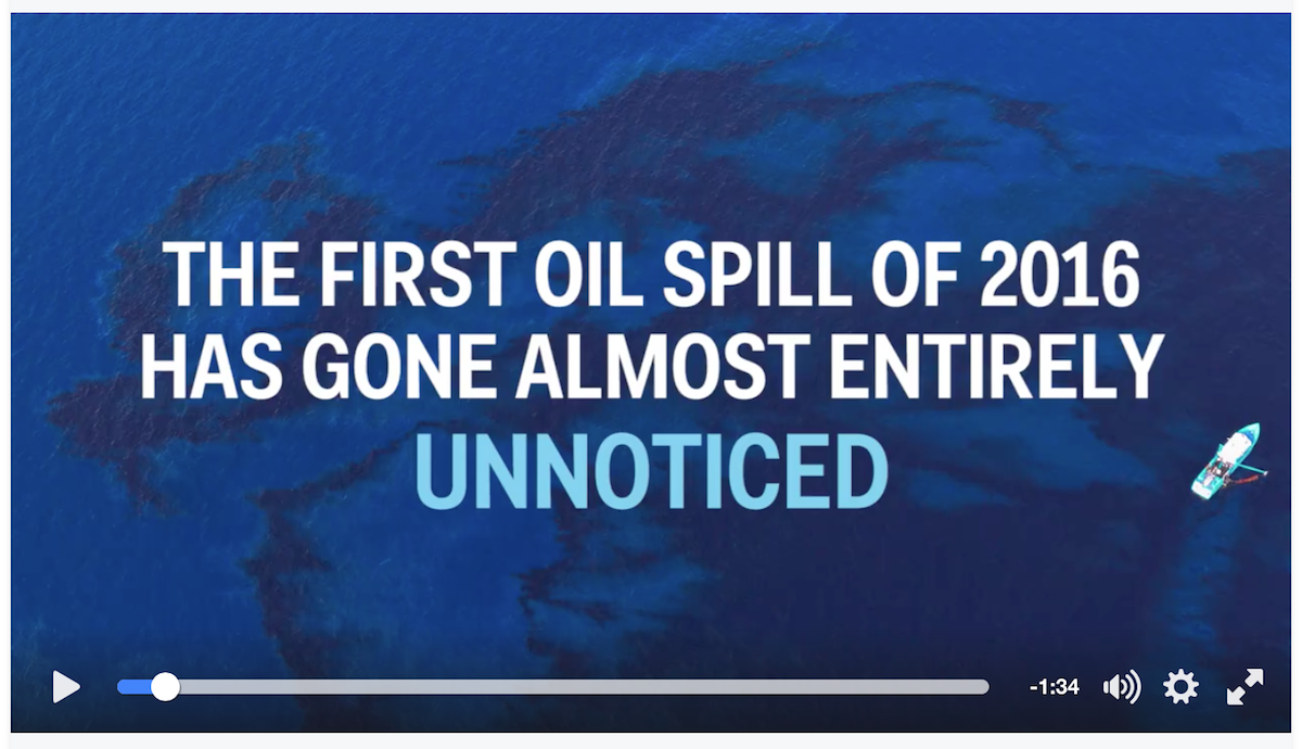 [VIDEO] How Is It The NO ONE Has Heard Of This Recent HUGE Oil Spill In The Gulf?