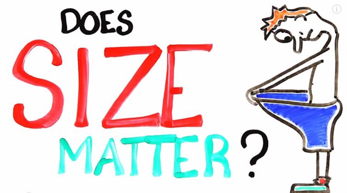 Scientific Evidence Is In: SIZE DOES NOT MATTER!