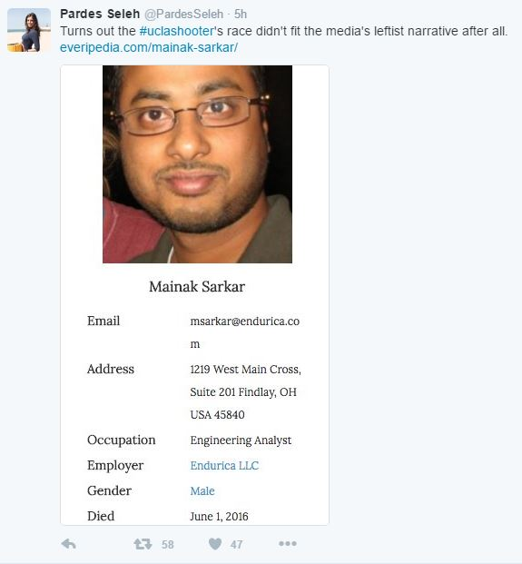 Media Cover Up! UCLA Shooter Religion Was Not Hindu! Just Guess ....