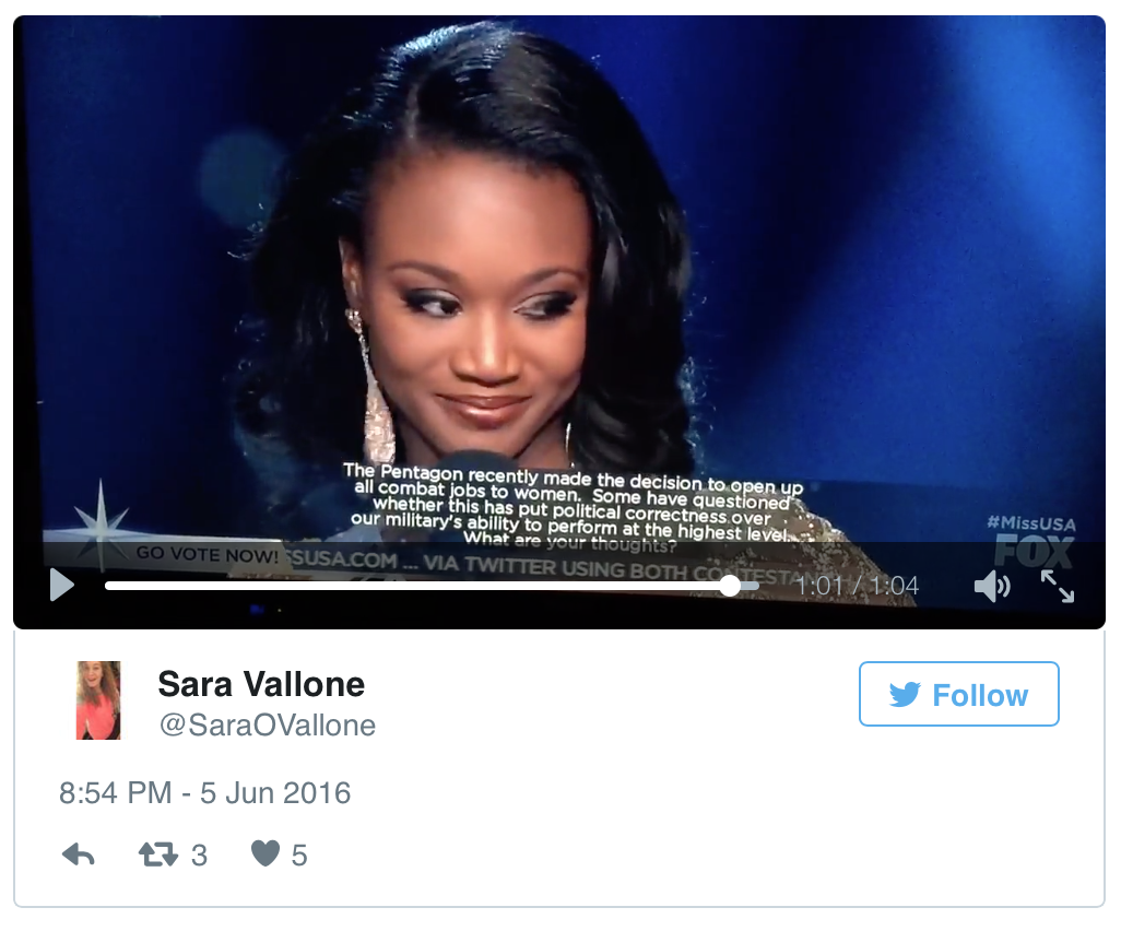 Miss USA Sets The Record Straight On Women In The Military