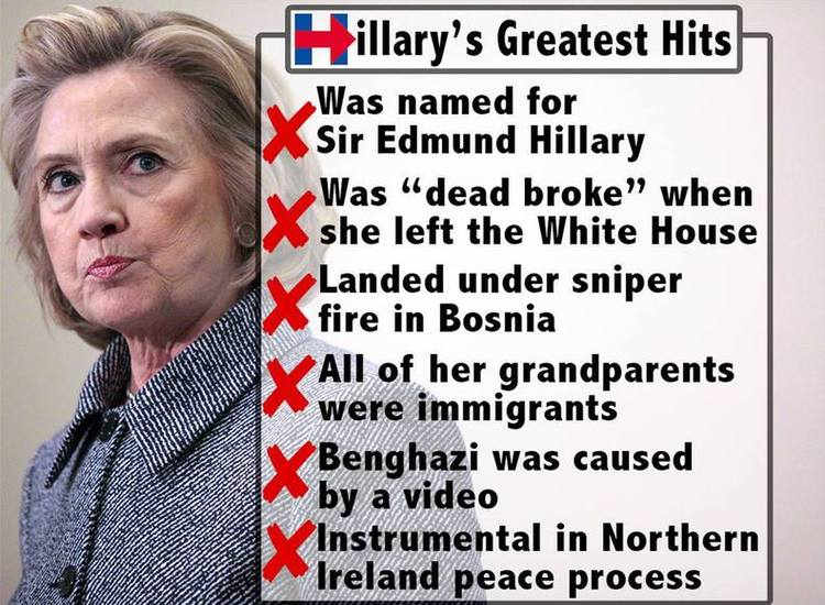 Hillary Clinton Caught in Lie:  All of My Grandparents Were Immigrants